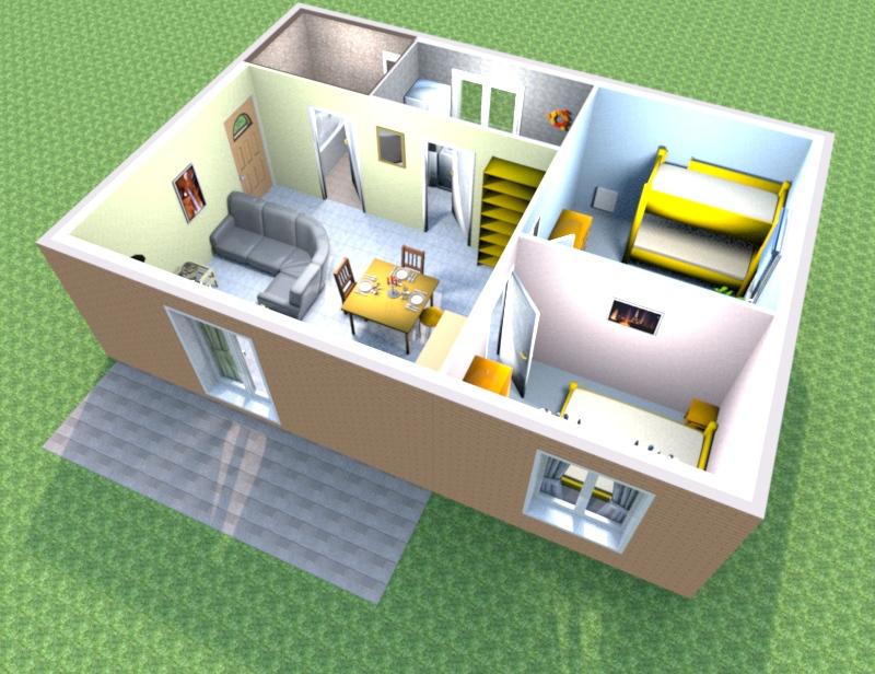 Wohnungseinrichtung 3 zimmer k che bad in reallusion city for Komplette wohnzimmereinrichtung