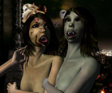Vampir girl nude — img 1