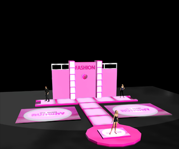 Fashion runway stage base in reallusion city - Fashion show stage design architecture plans ...