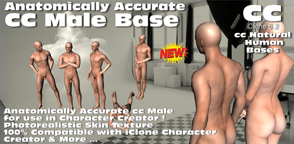 Anatomically Accurate Cc Male Base Nude Model With -6254