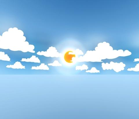 Cartoon skydome